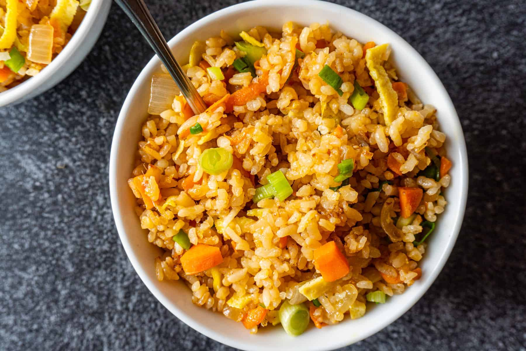 close up of fried rice
