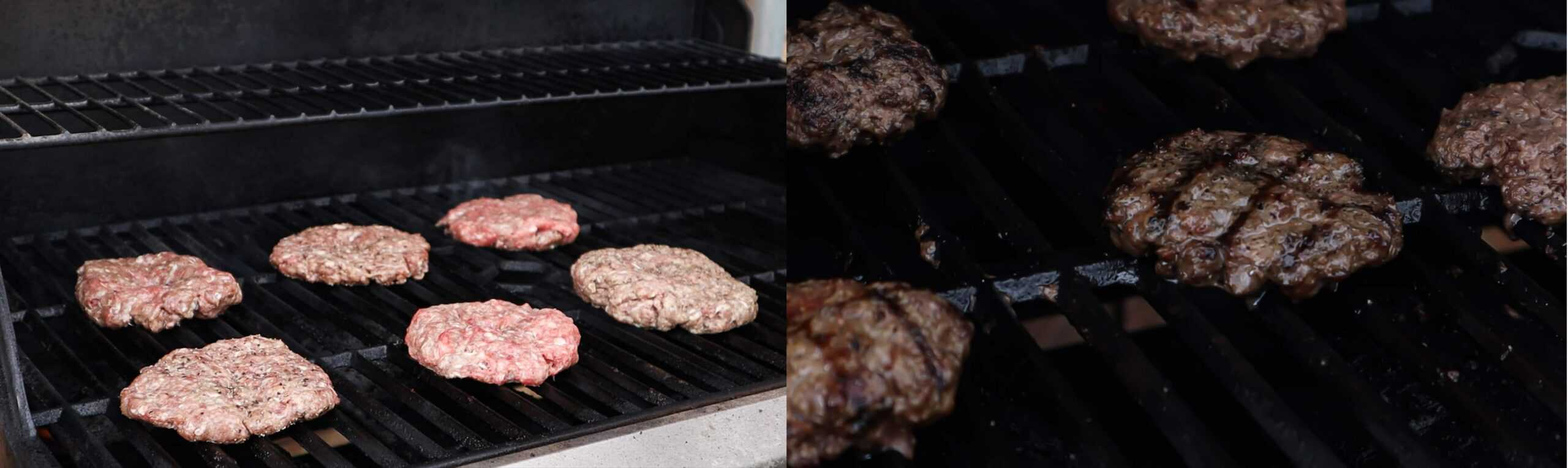patties on grill- uncooked vs cooked