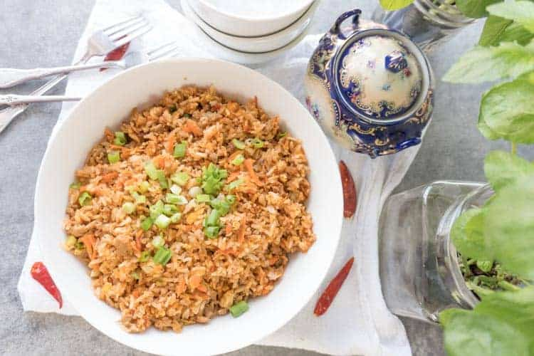 Easy chicken fried rice recipe a table full of joy easy fried rice recipes are the best and this is my favorite ccuart Choice Image