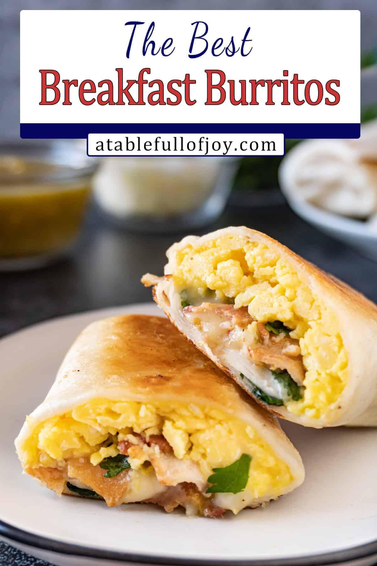 bacon breakfast burrito pin