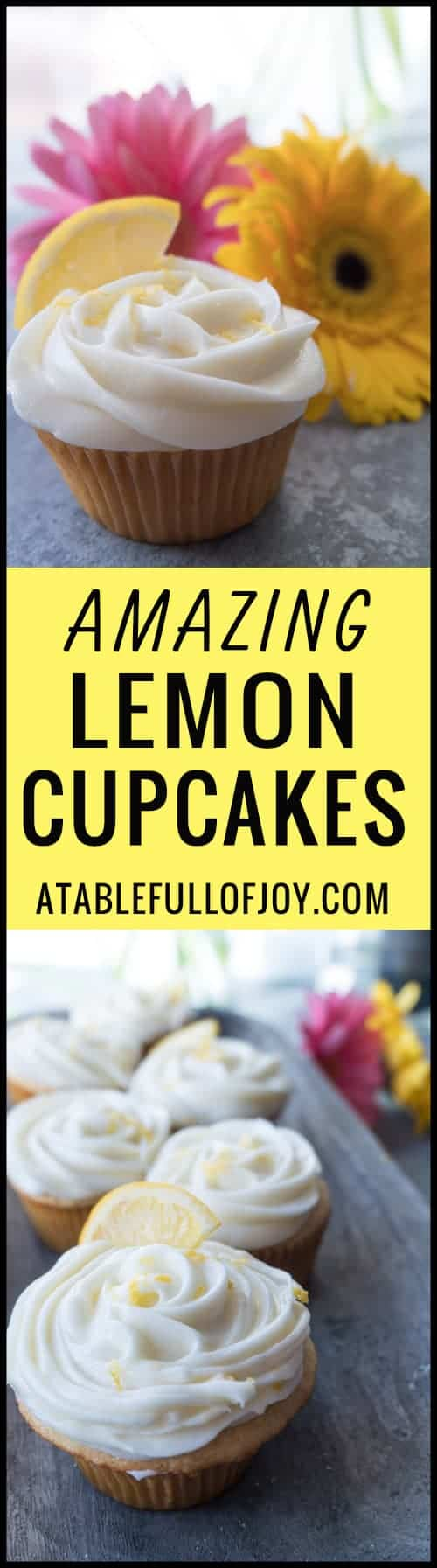 Lemon Cupcake with Lemon Cream Cheese Frosting