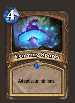 Evolving Spores Hearthstone Card