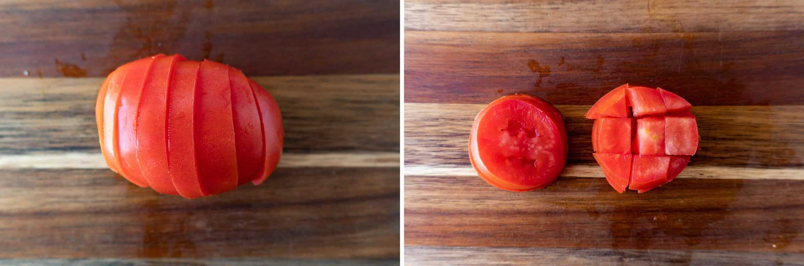 How to cut tomato