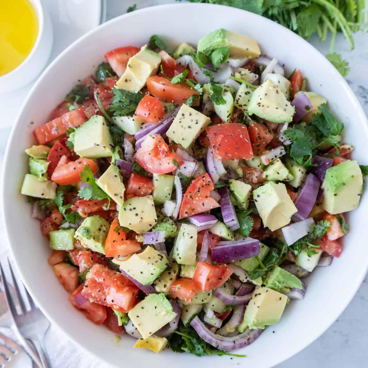 Cucumber Avocado Salad Featured image