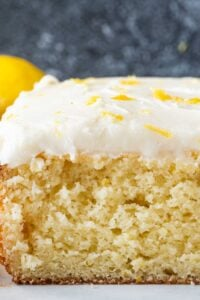 Close up of lemon cake texture