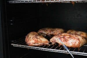 Chicken in the smoker