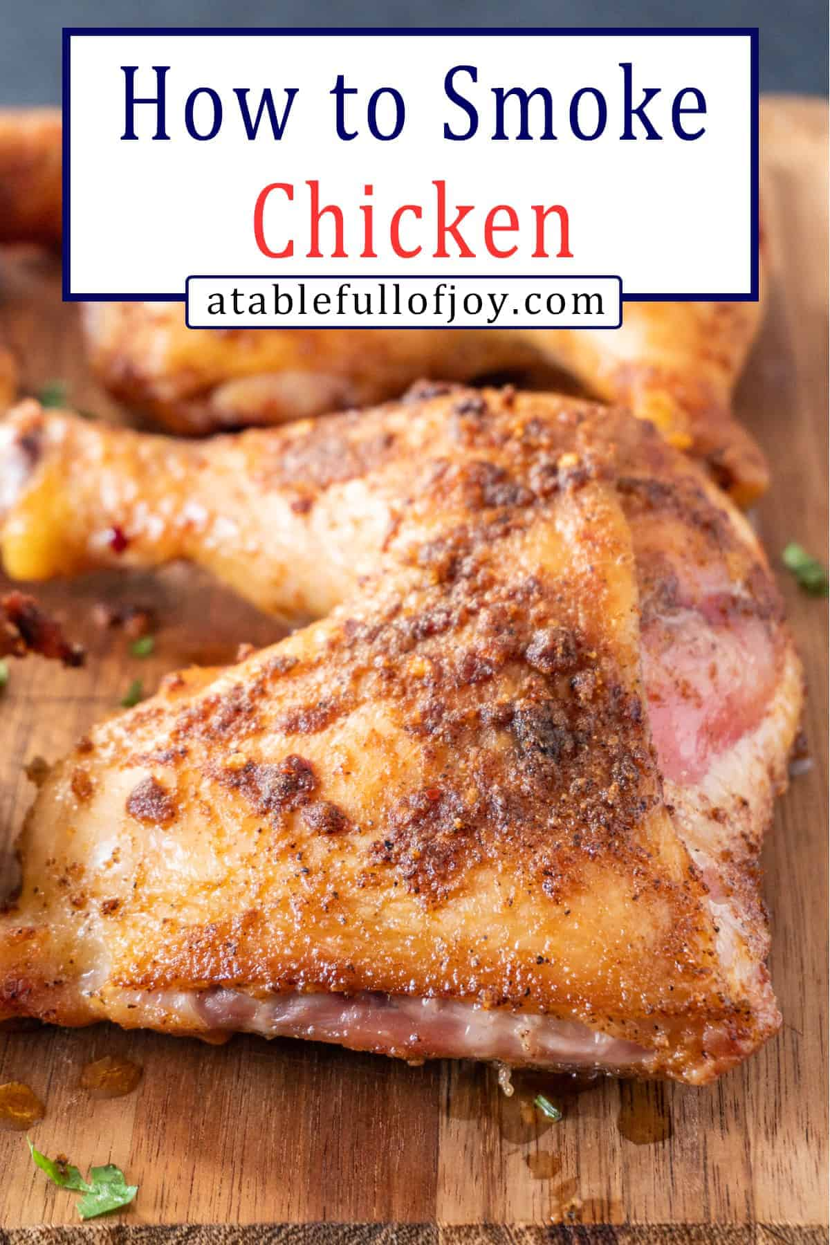 Smoked Chicken Pinterest Pin