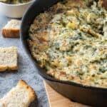 Hot Spinach Artichoke Dip Feature image