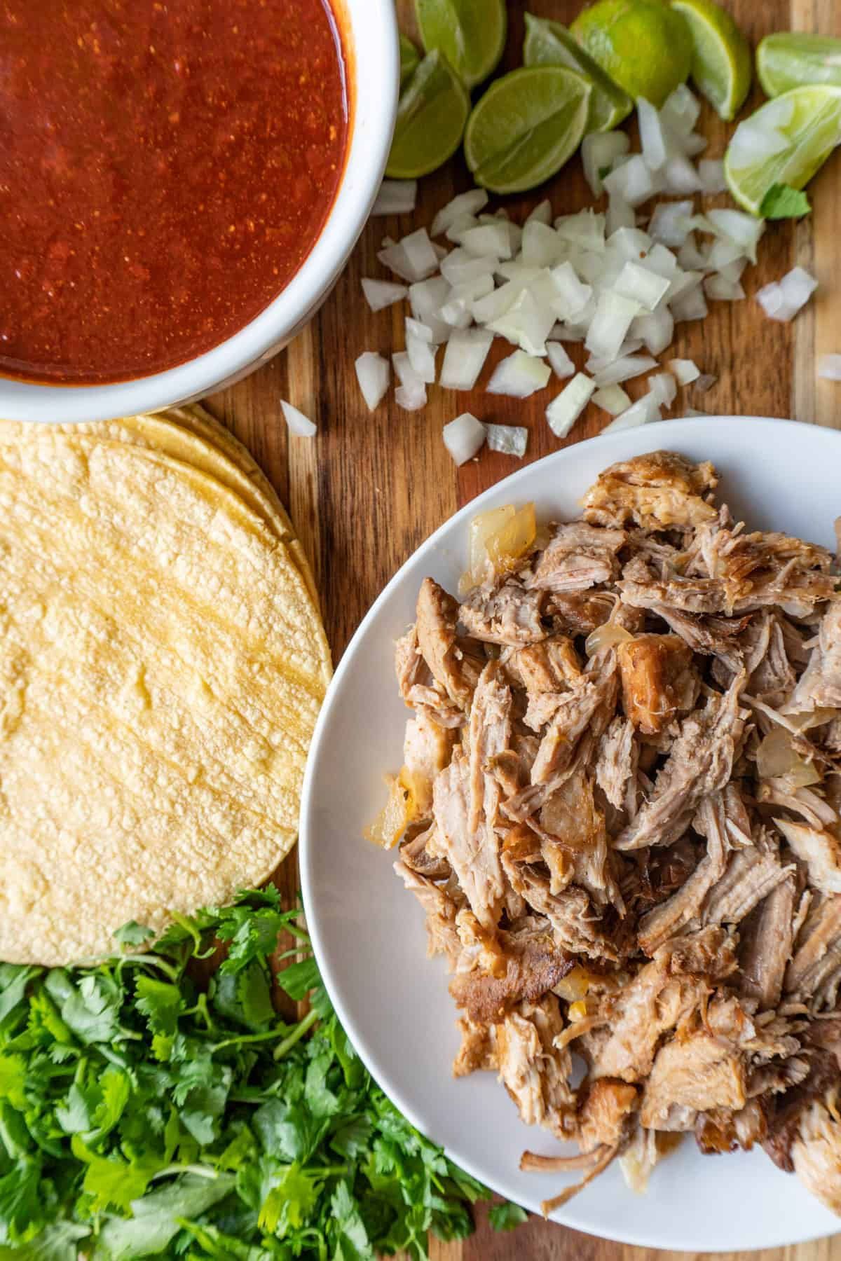 Ingredients for tacos