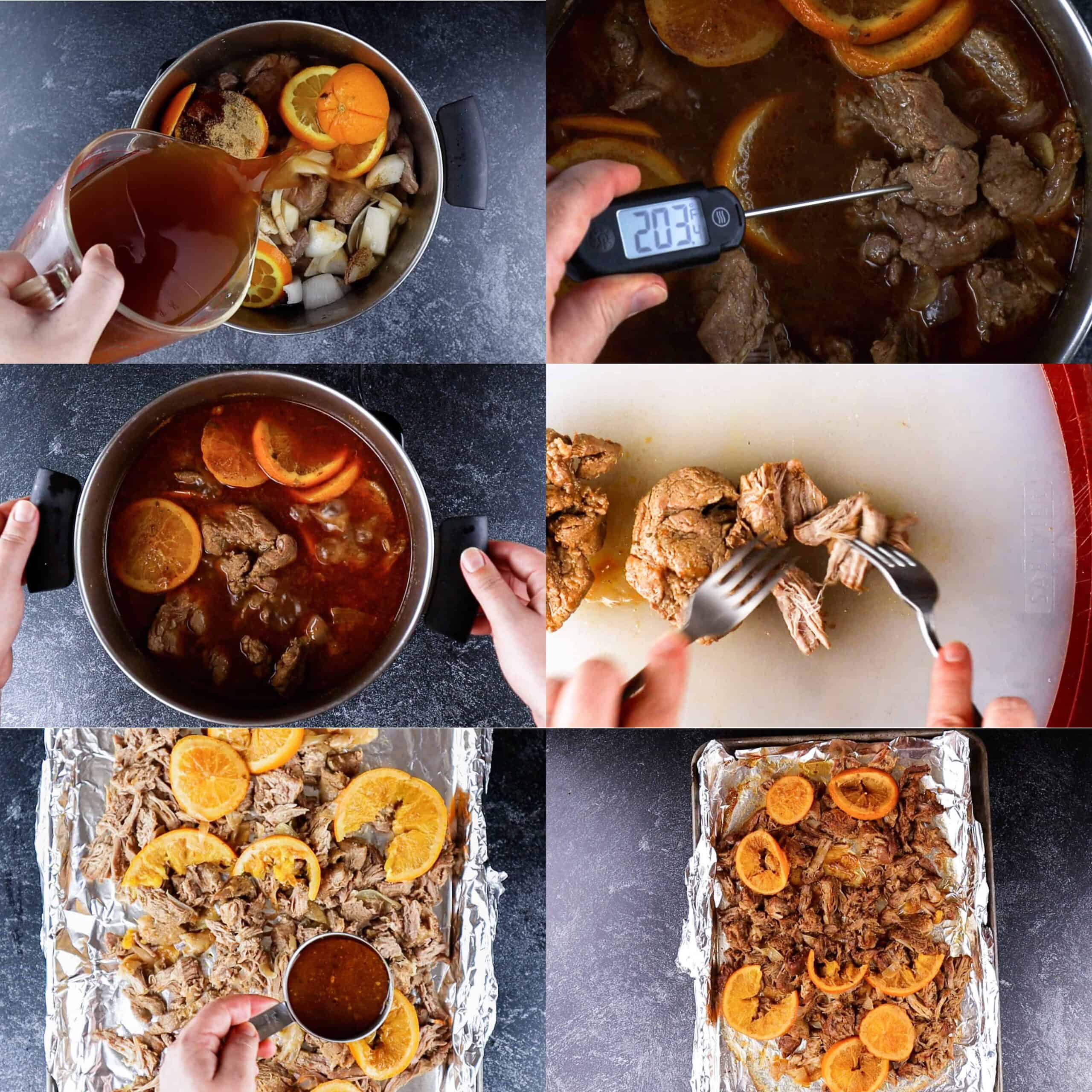 Adding broth, cooking, then baking