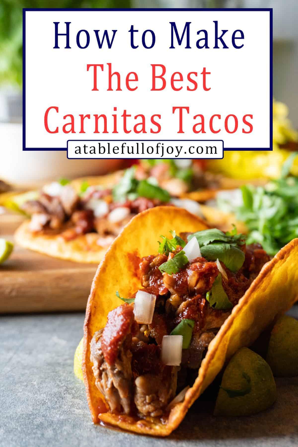 Carnitas Tacos Pinterest Pin