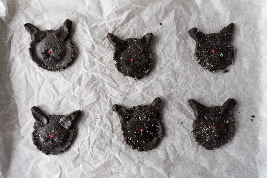 Cat Cookies Forming the cats