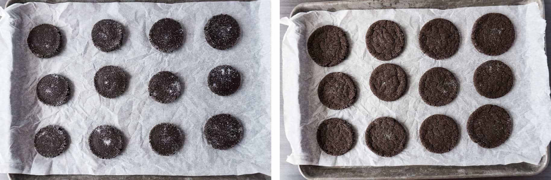 Chocolate Sugar Cookies Step 3 and Step 4