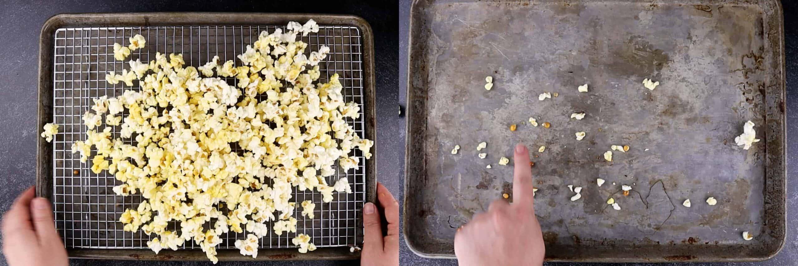 removing kernels from popcorn