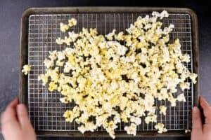 popcorn on cooling rack