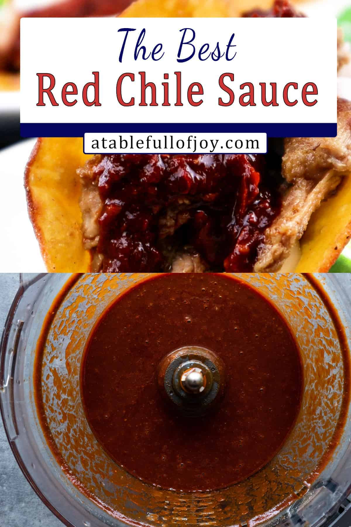 Red Chile Sauce Pinterest Pin