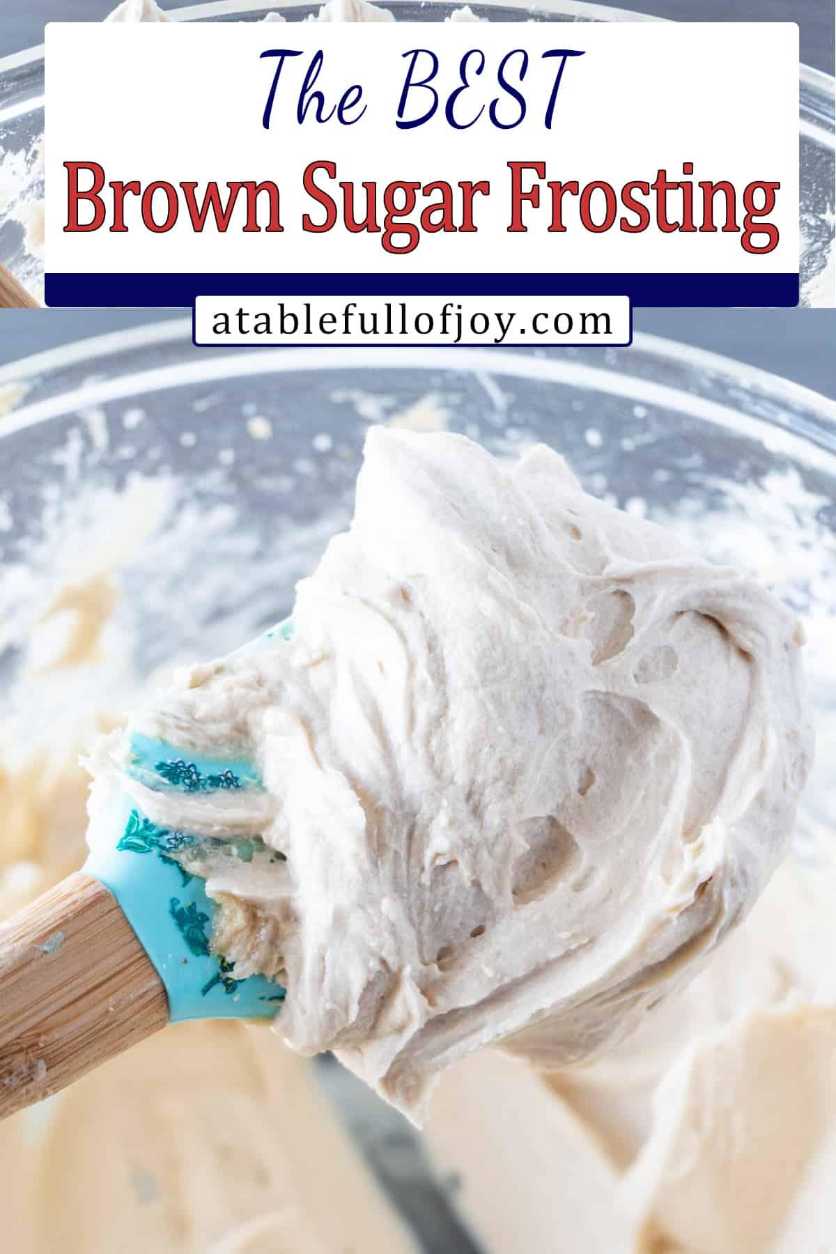brown sugar frosting Pinterest image
