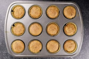 cupcakes baked in tin
