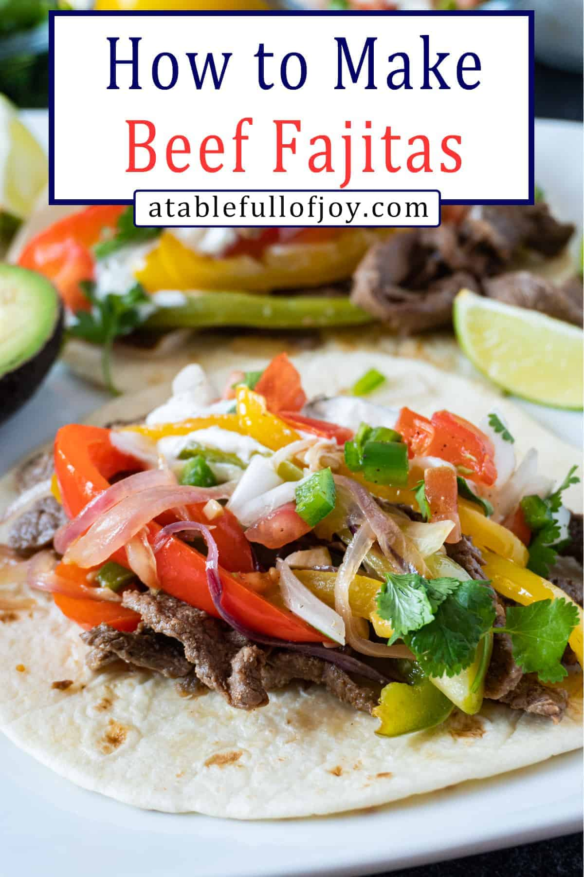Beef Fajita Recipe Pinterest Pin