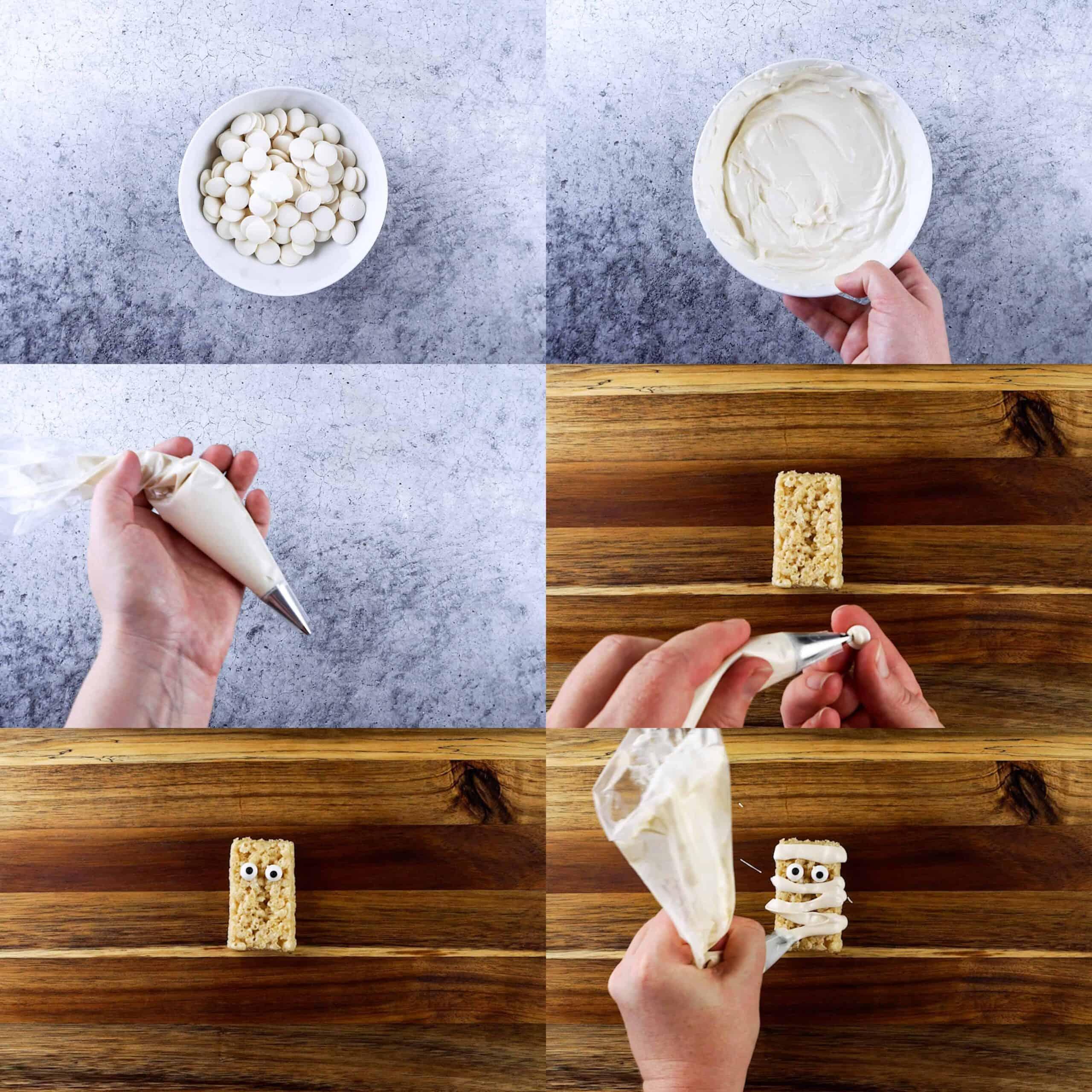 mummy rice crispy treat process shots