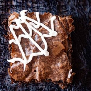 Spider Web Brownies featured image