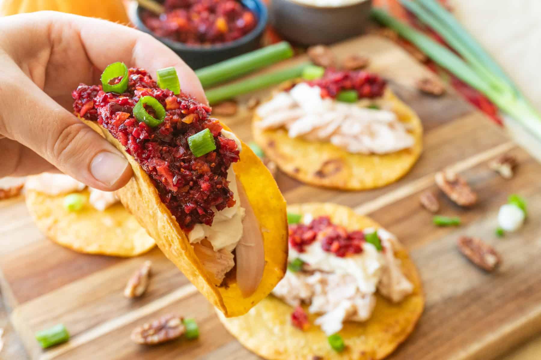 Holding a taco
