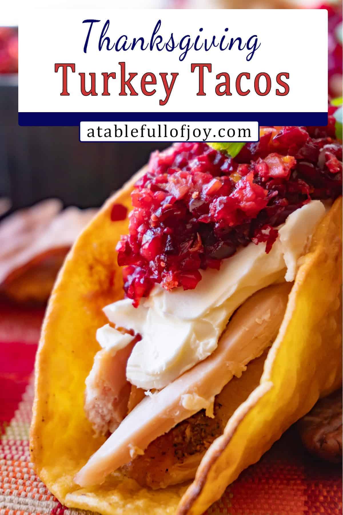 Thanksgiving Turkey Taco Pinterest Pin