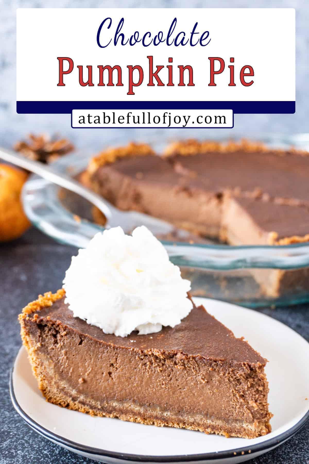 Chocolate Pumpkin Pie pinterest pin