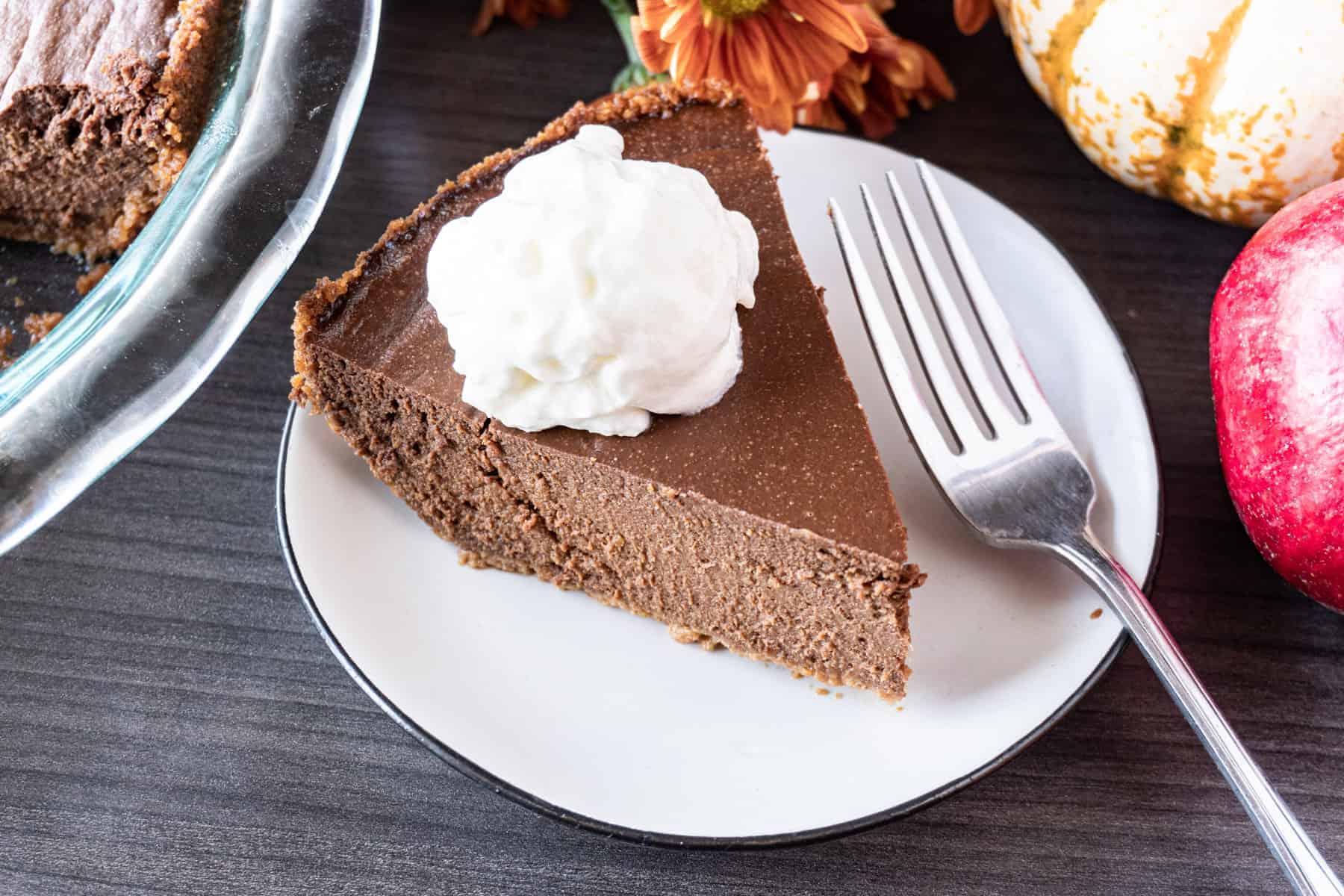 Chocolate Pumpkin Pie slice