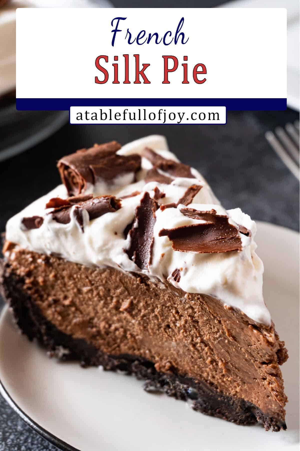 French Silk Chocolate Pie pinterest pin