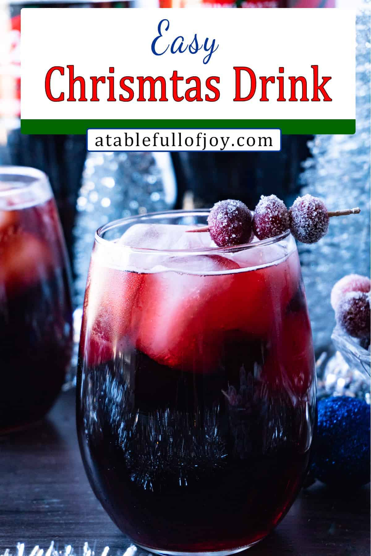Easy Christmas Drink pinterest pin