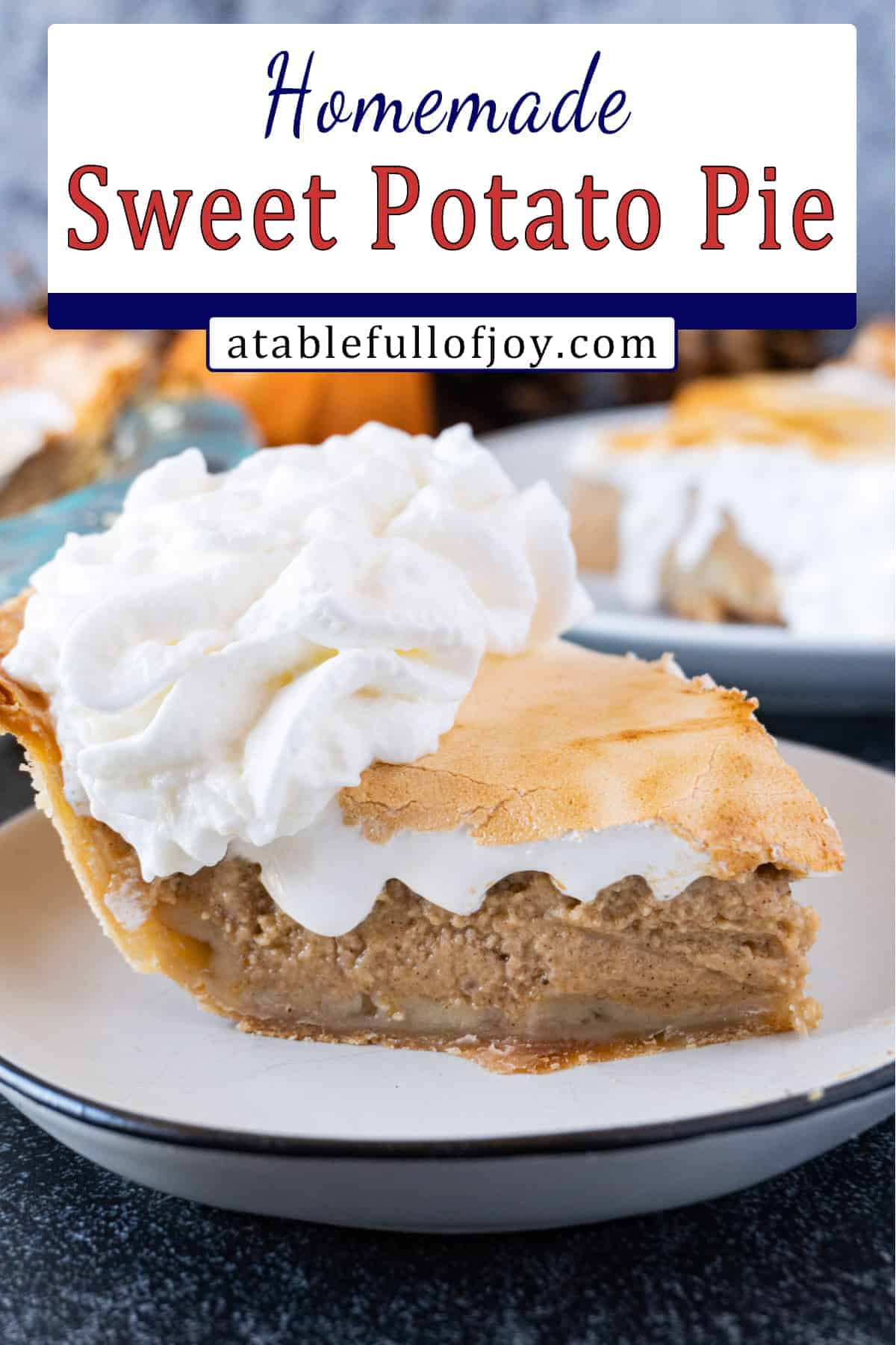 Sweet Potato Pie Pinterest Pin