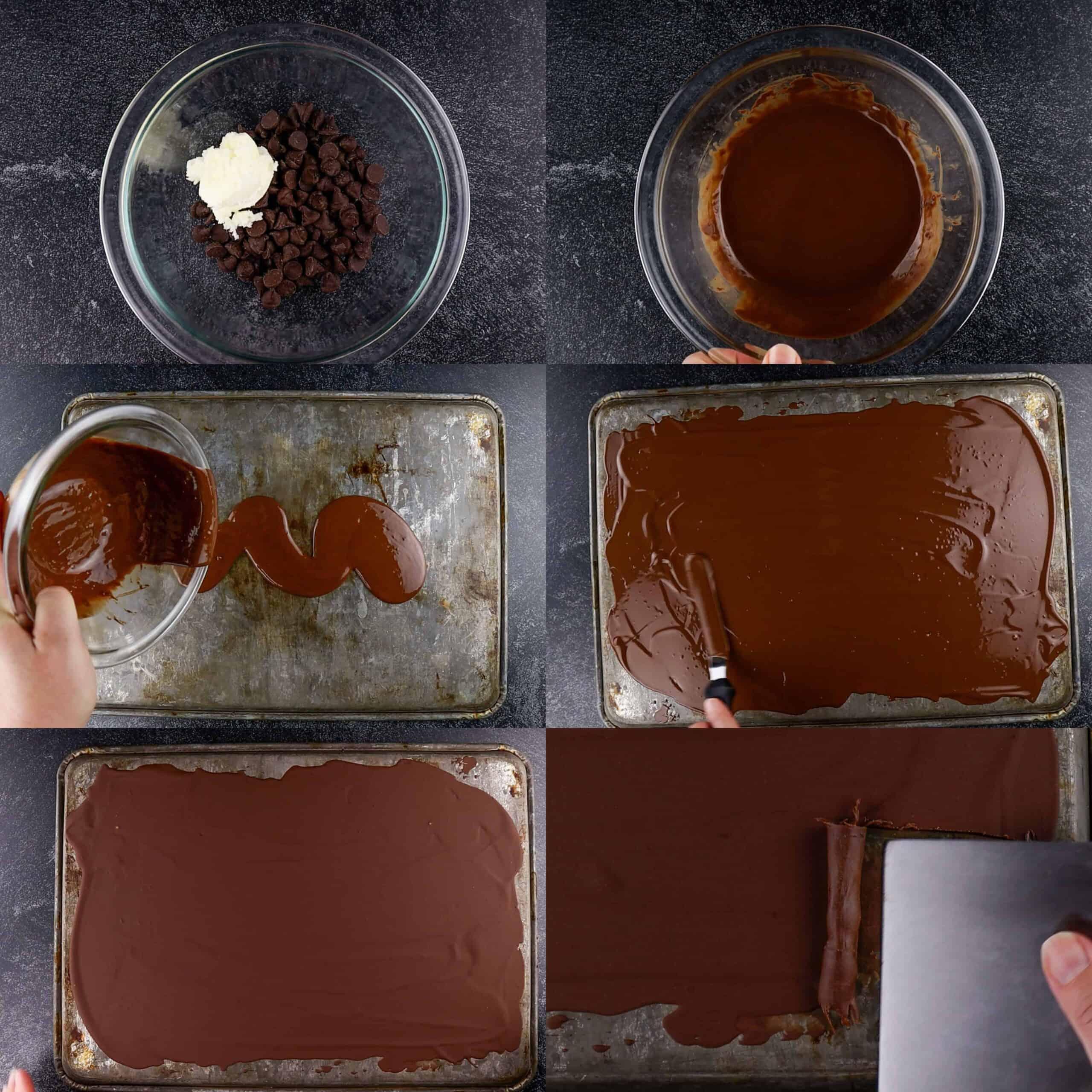 chocolate curls process shots