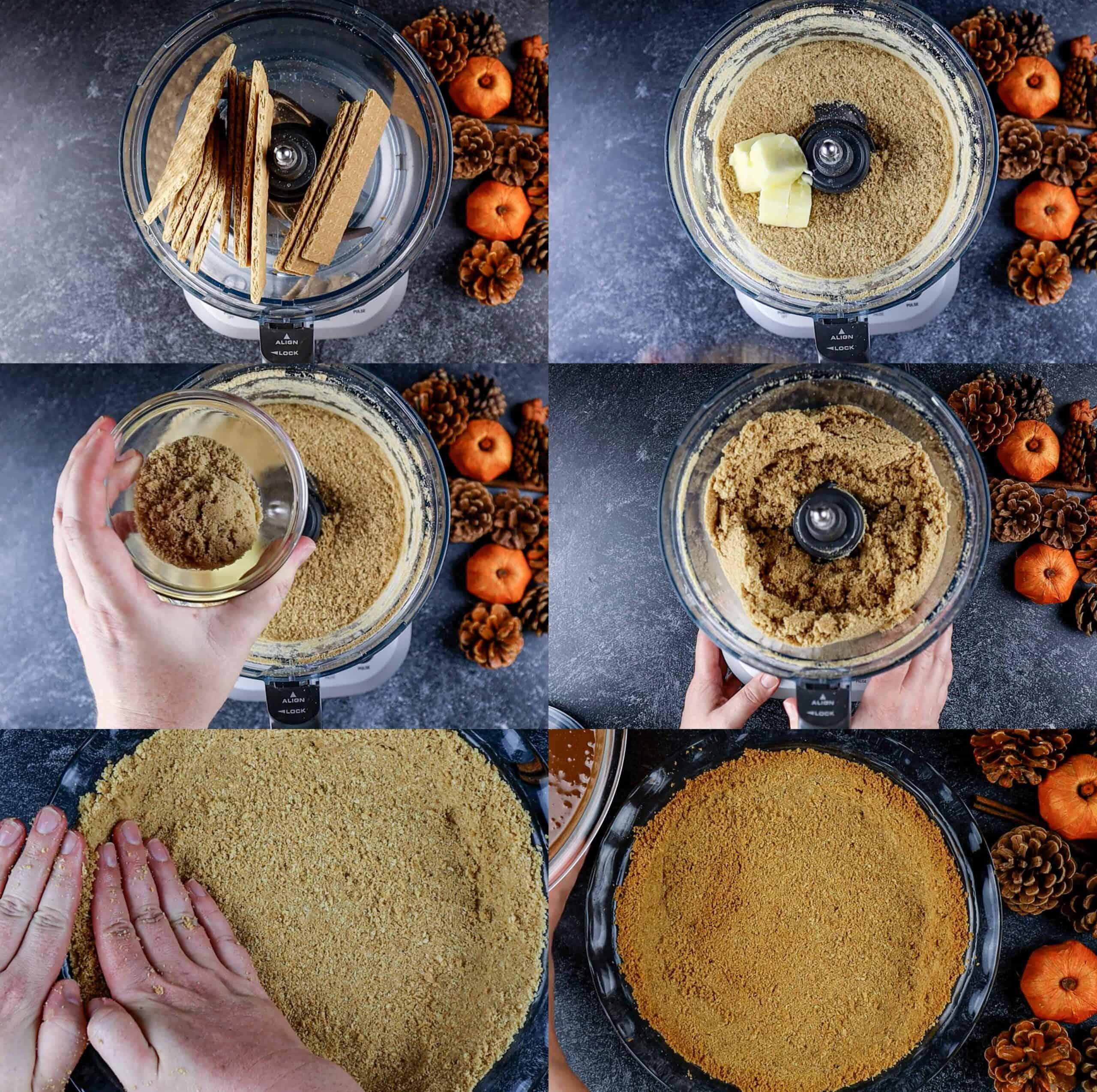 How to make graham cracker crust process shots
