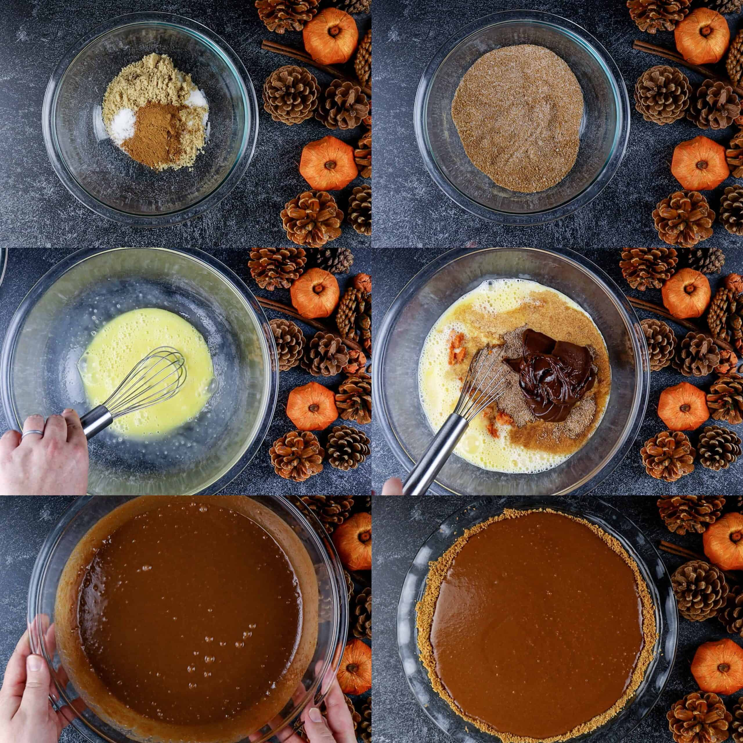 How to make pie filling process shots