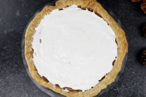 Pie with marshmallow fluff spread on it- before toasting