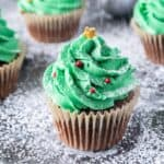 Christmas Tree Cupcakes featured image