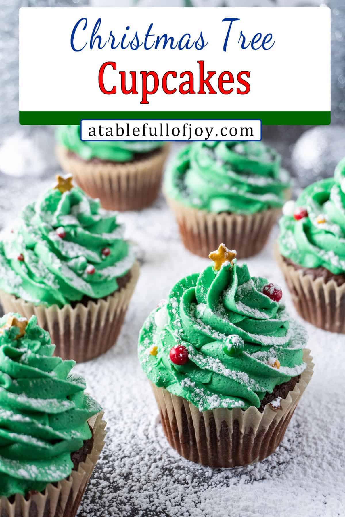 Christmas Tree Cupcakes pin