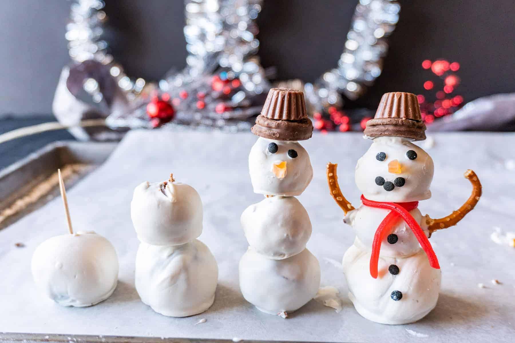 building the snowmen process