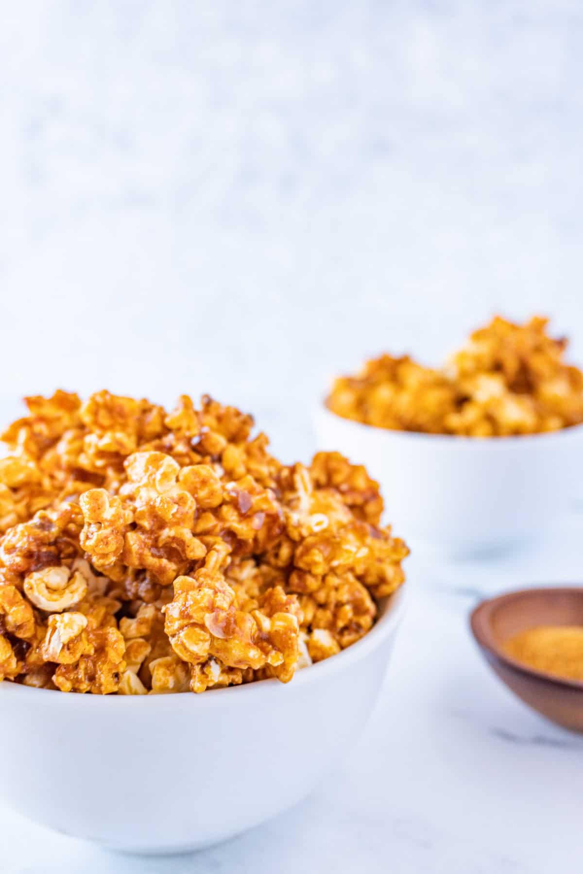 buffalo popcorn in a bowl