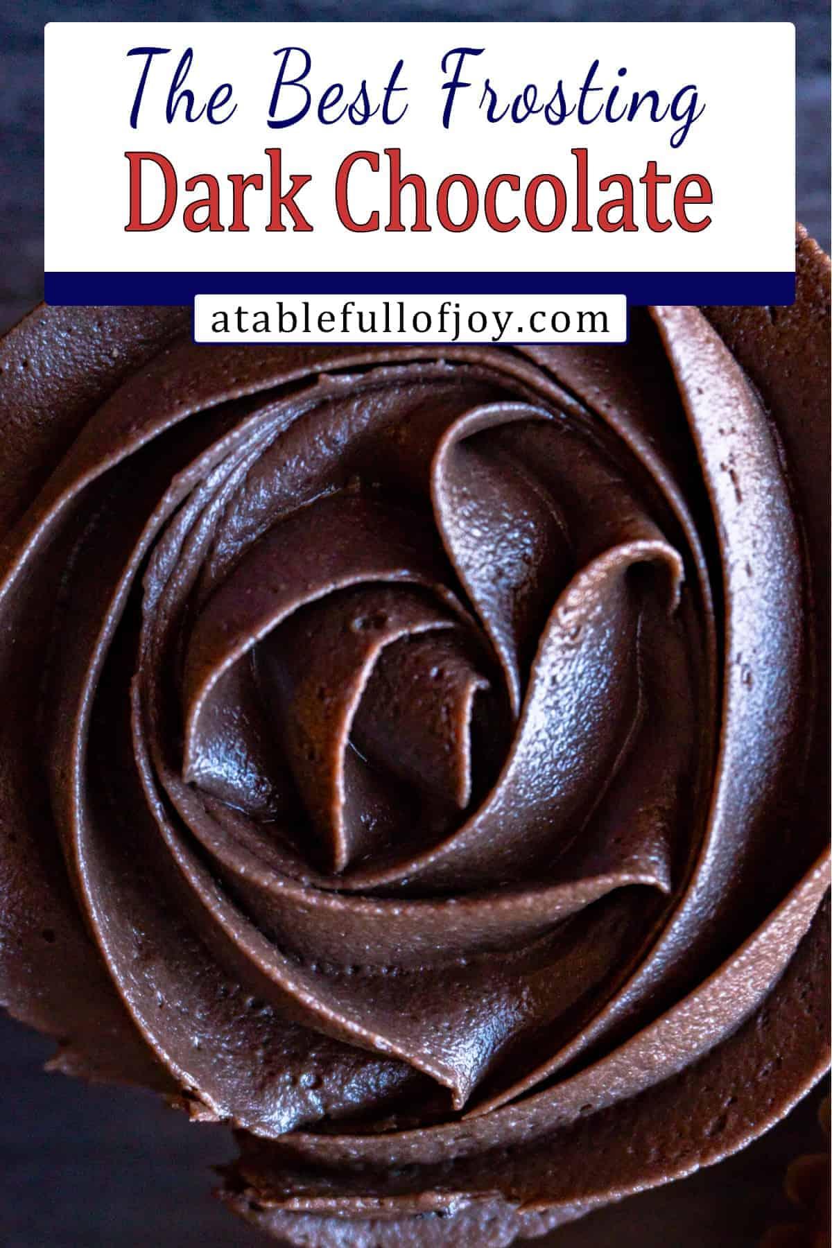 dark chocolate buttercream frosting pinterest pin