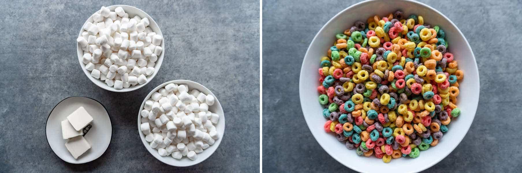 Fruit Loop Marshmallow Bar ingredients