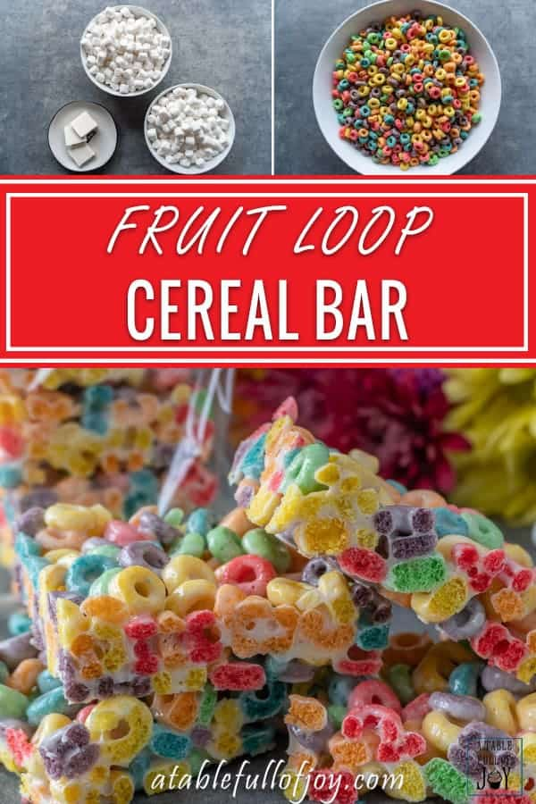 Fruit Loop Marshmallow Bar pinnable image