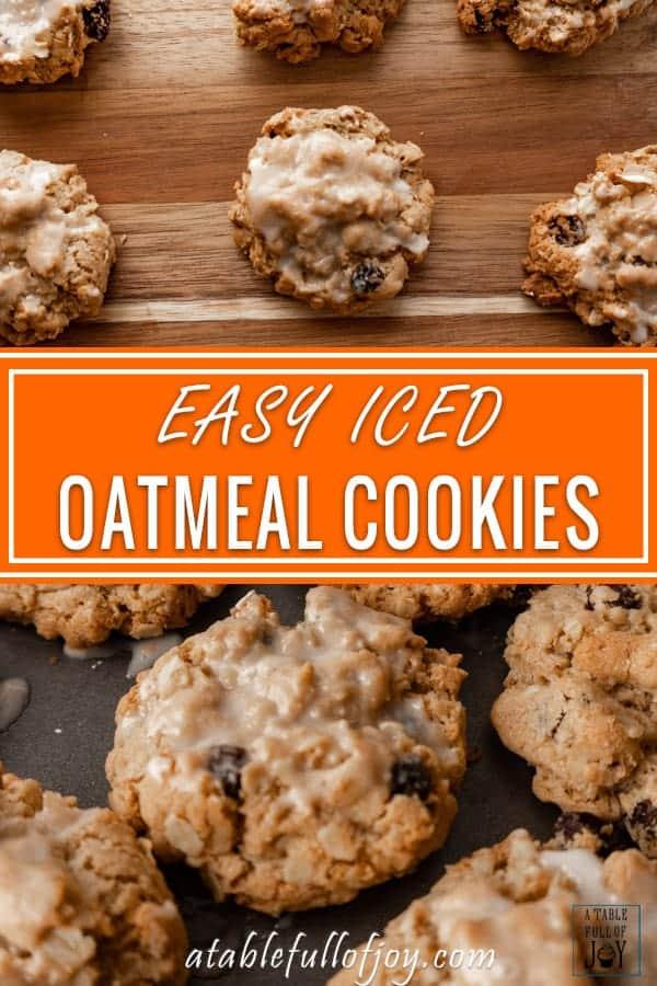 Oatmeal cookies pinable image.