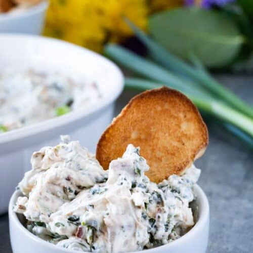 Spinach Dip in bowl