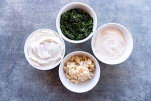 mayo, spinach, water chestnut, sour cream