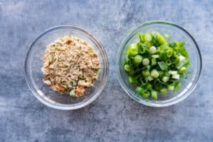 chopped green onion and knorr seasoning
