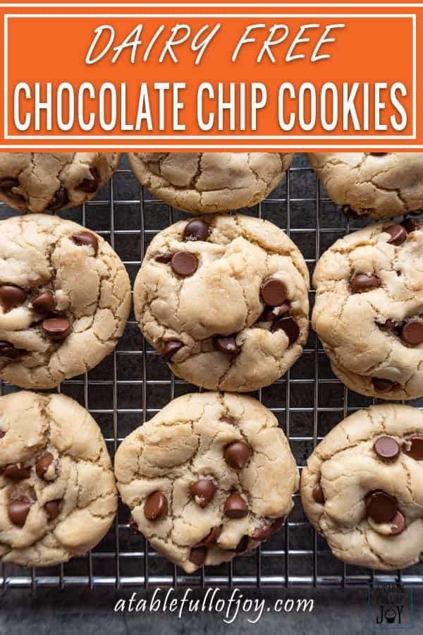 Dairy Free Chocolate Chip Cookies Pinterest Pin