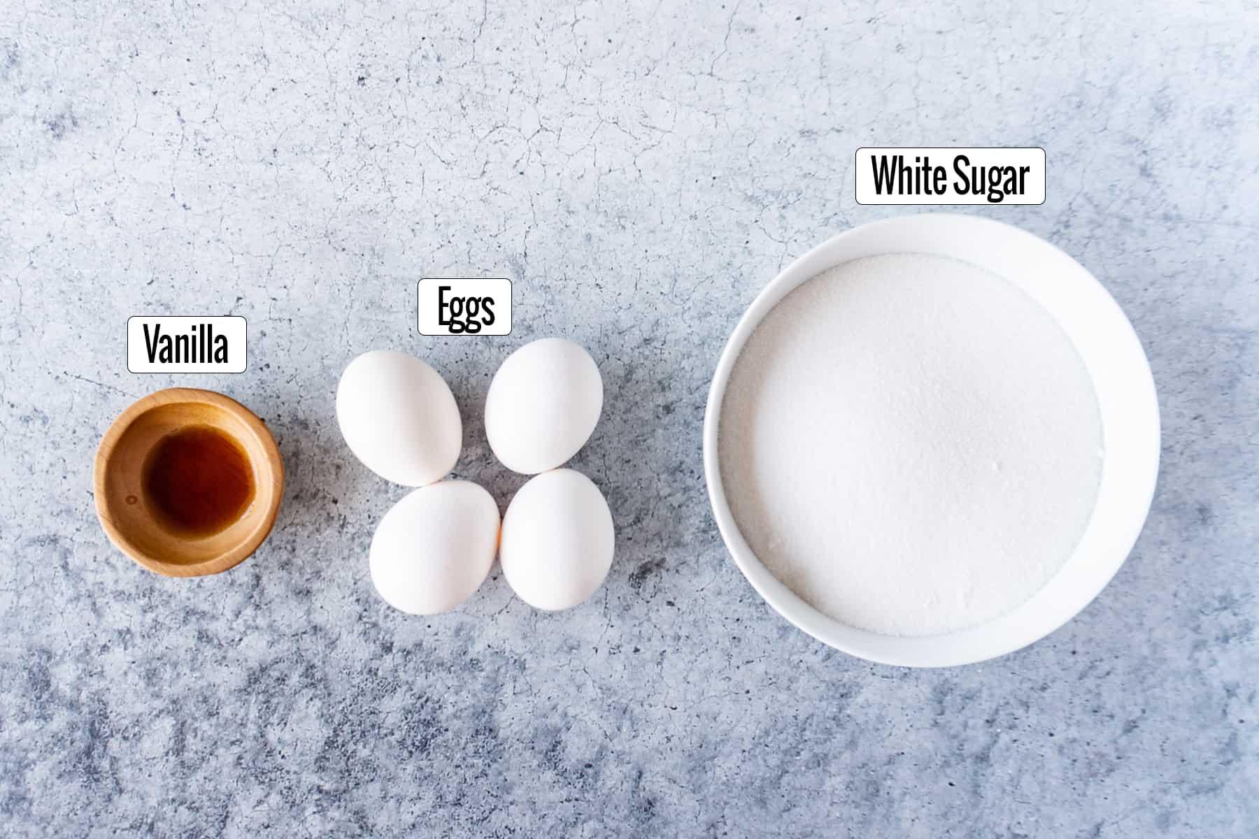 Best Homemade Brownies Recipe Ingredients: vanilla, eggs, white sugar