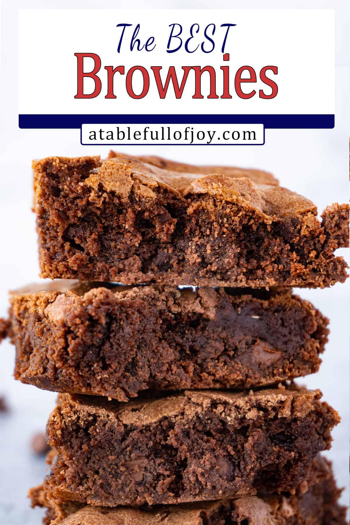 Best Homemade Brownies Recipe pinterest image